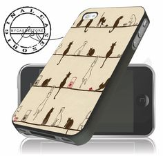 cats vintage for iPhone 4 5 5c 6 Plus Case, Samsung Galaxy S3 S4 S5 – mycasesstore