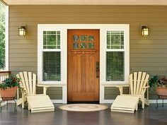 a little too symmetrical for comfort but I like the colors and adirondack chairs