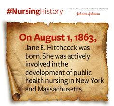 #NursingHistory: Jane E. Hitchcock was one of the most influential public health #nurses of her time. https://www.facebook.com/jnjnursingnotes/photos/a.375515137804.165800.353356487804/10153676233962805/?type=3&theater