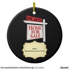 Personalized Realtor & Real Estate Agent Ceramic Ornament
