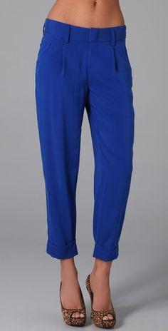 alice + olivia blue pants $198.00