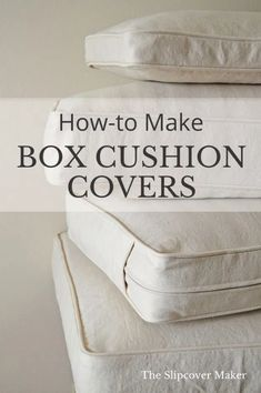 DIY Box Cushion Cover Tutorials | The Slipcover Maker, Polsterkissen nähen, Kissen mit Boden