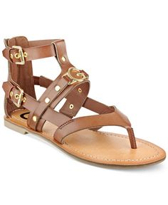 G by GUESS Hartin Flat Gladiator Sandals