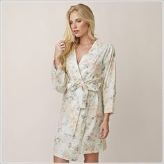 Kimono Style Robe. Knee Length. Anais Ponders a Poet.