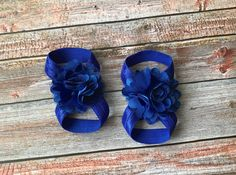 4th of July Barefoot Sandals/Baby Barefoot Sandals/4th of July/Fourth of July/Blue Barefoot Sandals/Baby Shoes/Baby Sandals/Baby Girl Shoes by JuliaGraceDesigns1 on Etsy