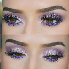 Violet eyeshadows