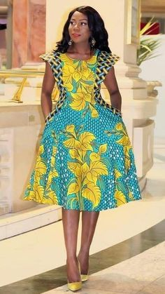 Ankara dress styles to try out - DarlingNaija African Fashion Ankara, Latest African Fashion Dresses, African Print Fashion, Africa Fashion, Short African Dresses, African Print Dresses, African Print Dress Designs, Traditional African Clothing, Ankara Dress Styles