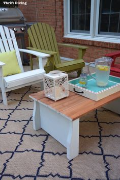 Turn an Old Crib Into a Table | Thrift Diving - Highlighted on #HomeMattersParty 101
