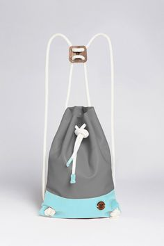 SPECIAL IF Eco-leather Bag - Grey&Blue by IF bags made in Italy on CROWDYHOUSE