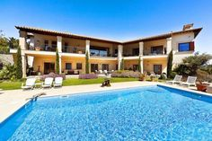An exceptional, spacious and luxurious villa located in the private and very exclusive residential area Luxury Villa, Sea, Mansions, House Styles, Outdoor Decor, Home Decor, Balearic Islands, Real Estate, Luxury Condo