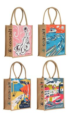 Seasalt Charity Jute Bags in aid of the Fishermen's Mission