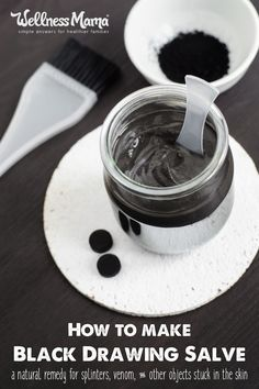 Old fashioned black drawing salve is an Amish recipe that is a natural treatment for wounds, splinters and other skin problems.