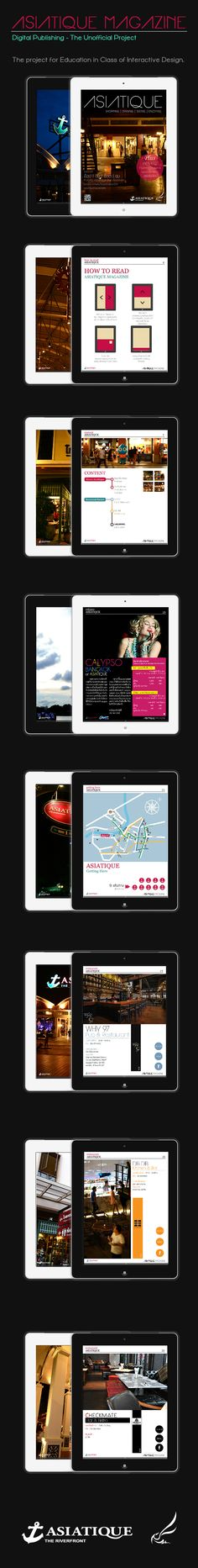 Asiatique Magazine (Unofficial Digital Publishing) by Kew Katetunnop, via Behance #MagPlanet #TabletMagazine #DigitalMag