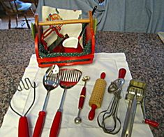 Vintage Red Kitchen Grouping