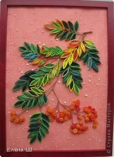 quilled fall leaves | autumn leaves
