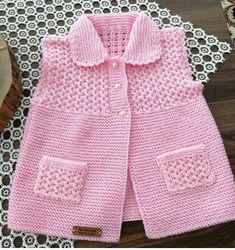 """KNITTING # 🌼 # """"Pinkish # 💖💖 me # who knows your owner My backup page. Baby Sweater Patterns, Baby Cardigan Knitting Pattern, Knit Baby Sweaters, Girls Sweaters, Baby Knitting Patterns, Baby Patterns, Baby Pullover Muster, Crochet Baby Clothes, Knitting For Kids"""