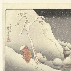 In de sneeuw te Tsukahara in Sado, Utagawa Kuniyoshi, 1833 - 1837 - Rijksmuseum