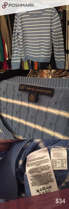 "👉🏼Brooks Brothers Cableknit Crewneck EUC 100% cotton Brooks Brothers Cableknit Crewneck sweater. Gorgeous blue and white. Perfect and comfy. 20"" pit to pit. 24"" shoulder to hem. Brooks Brothers Sweaters Crew & Scoop Necks"