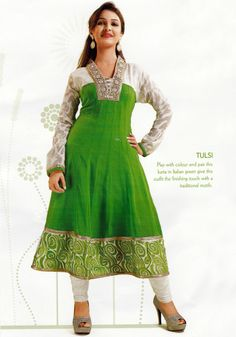 Elegant personality with new SIXMETER Georgeous Looking #Designer #Kurti for lovely lady.