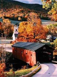 Country Road and old covered bridge in Autumn. Not really sure where this bridge is. Looks like maybe Vermont. Beautiful World, Beautiful Places, Beautiful Scenery, Simply Beautiful, Old Bridges, Autumn Scenes, Landscape Wallpaper, Fall Pictures, Jolie Photo