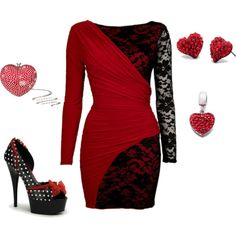 Red and Black...Totally perfect for V-day. Not that I will ever have a date, but still.