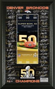 Denver Broncos Super Bowl 50 Champions Signature Ticket (NFLPANO169K)