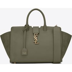 Saint Laurent Small Downtown Cabas Bag I Sac Yves Saint Laurent, Saint Laurent Tasche, Saint Laurent Handbags, Brown Leather Purses, Brown Purses, Real Leather, Leather Key, Leather Totes, Ysl Purse