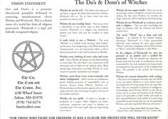 Laurie Cabot's Witches Do's & Dont's