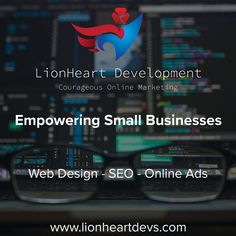 Make every page visit count. lionheartdevs.com Seo Online, Online Marketing, Application Development, App Development, Business Website, Online Business, Create A Company Logo, Small Business Web Design, Thank You Email