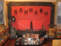 Samhain 2012 Mostra bibliográfica na Biblioteca Infantil e Xuvenil para celebrar o Samhain. Samhain, Explore, Ideas, Children's Library, Monsters, Witches, Vampires, Exhibitions, Little Cottages