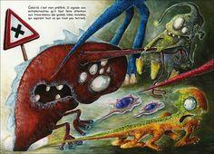 Une double page d'Ultra Secret: Le code de la route des extraterrestres