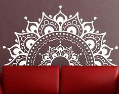 Mandala Wall Decal mandala sticker Yoga Om Namaste Yoga décor