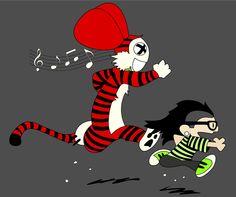 Skrillex And Deadmau5 | Calvin & Deadhobbe5 Skrillex/Deadmau5 Popculture by PharaohTees