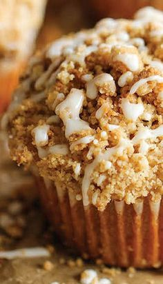 Coffee Cake Muffins Recipe ~ The classic coffee cake is transformed into a convenient muffin, loaded with a mile-high crumb topping!
