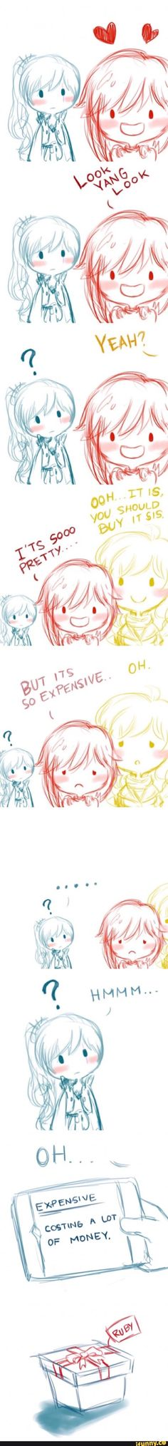 Is everyone just gonna ignore that Weiss had to look up Expensive!?
