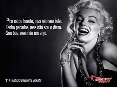 5 de agosto - Há 52 anos, a musa Marilyn Monroe nos deixou... #mensagenscomamor #frases #famosos