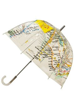 NYC subway map umbrella