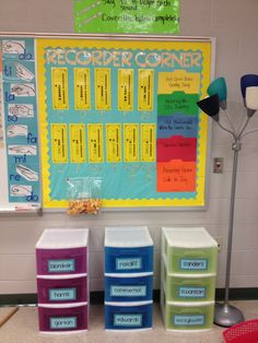 Store recorders in plastic drawers! Definitely doing this for this coming year. This way the kids have somewhere that's not their locker to keep their recorder if they don't take it home to practice.