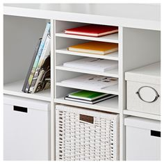 hochschrank mit einlegeb den metod wei ringhult wei. Black Bedroom Furniture Sets. Home Design Ideas