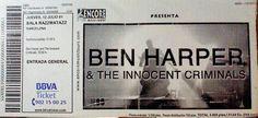 Ticket de Ben Harper  en el Razzmatazz de Barcelona