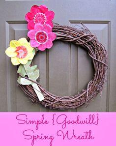 f496671aec2 Simple  Goodwill  Spring Wreath!