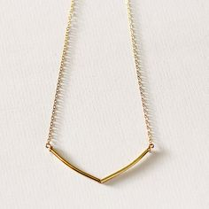 Sunlight  delicate gold necklace  geometric by MinettaJewellery