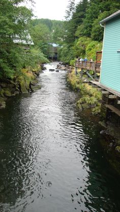 Creek Street, Ketchikan, Alaska... I remember walking over this very creek.
