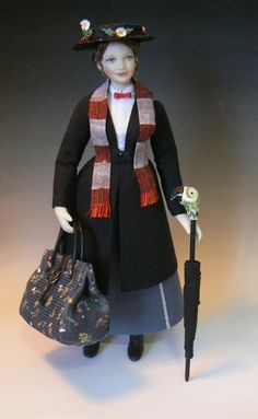 """Dollhouse """"Perfect Nanny""""....inspired by Mary Poppins, by Debbie Dixon-Paver"""