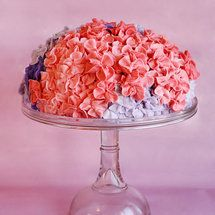 Shower Idea: The Hydrangea Cake - lots of wedding/party/shower ideas