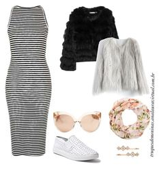 Look 2 em 1 by truquesdemeninas on Polyvore featuring Topshop, Alice + Olivia, Chicwish, Steve Madden, Linda Farrow, Henri Bendel and New Look