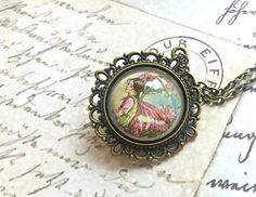 Flower Fairy Necklace Fairy Glass Pendant by JewelryFairyGift