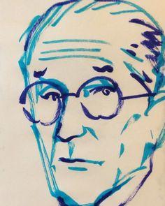 いいね!25件、コメント1件 ― @1mindrawのInstagramアカウント: 「#1mindraw #一分描画 #lecorbusier #ルコルビュジェ #architect #建築家 #18871006 #birthday #誕生日 #portrait #似顔絵…」