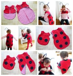 Excellent No Cost Ladybug costume ladybug costume Baby Kostüm, Baby Vest, Costume Coccinelle, Crochet Clothes, Diy Clothes, Knit Baby Dress, Kids Dress Up, Baby Costumes, Children Costumes