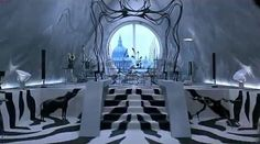 "Cruella de Vil's office from Disney's 1996 live-action remake of ""101 Dalmatians."""